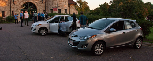 The Lars Andersen Museum once again played host to the New England debut of another new car recently, as our friends at Mazda invited the NEMPA scribes for an evening review of the all-new Mazda 2 subcompact hatchback.