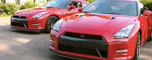 Nissan went to extremes in September when it brought both its new entry-level Versa sedan and its GT-R supercar to Brookline's Larz Anderson Auto Museum to show to NEMPA.