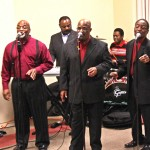 Entertainment by gospel singers the Bullock Brothers.