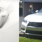 Saturday in Maine, left: a NEMPA member's Lexus GS. Saturday in Naples, Florida, right: another NEMPA member's Lexus GS.