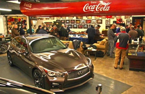 Kyle Bazemore, Infiniti's Senior Manager for US Communications, at the Automotion garage on December 10.
