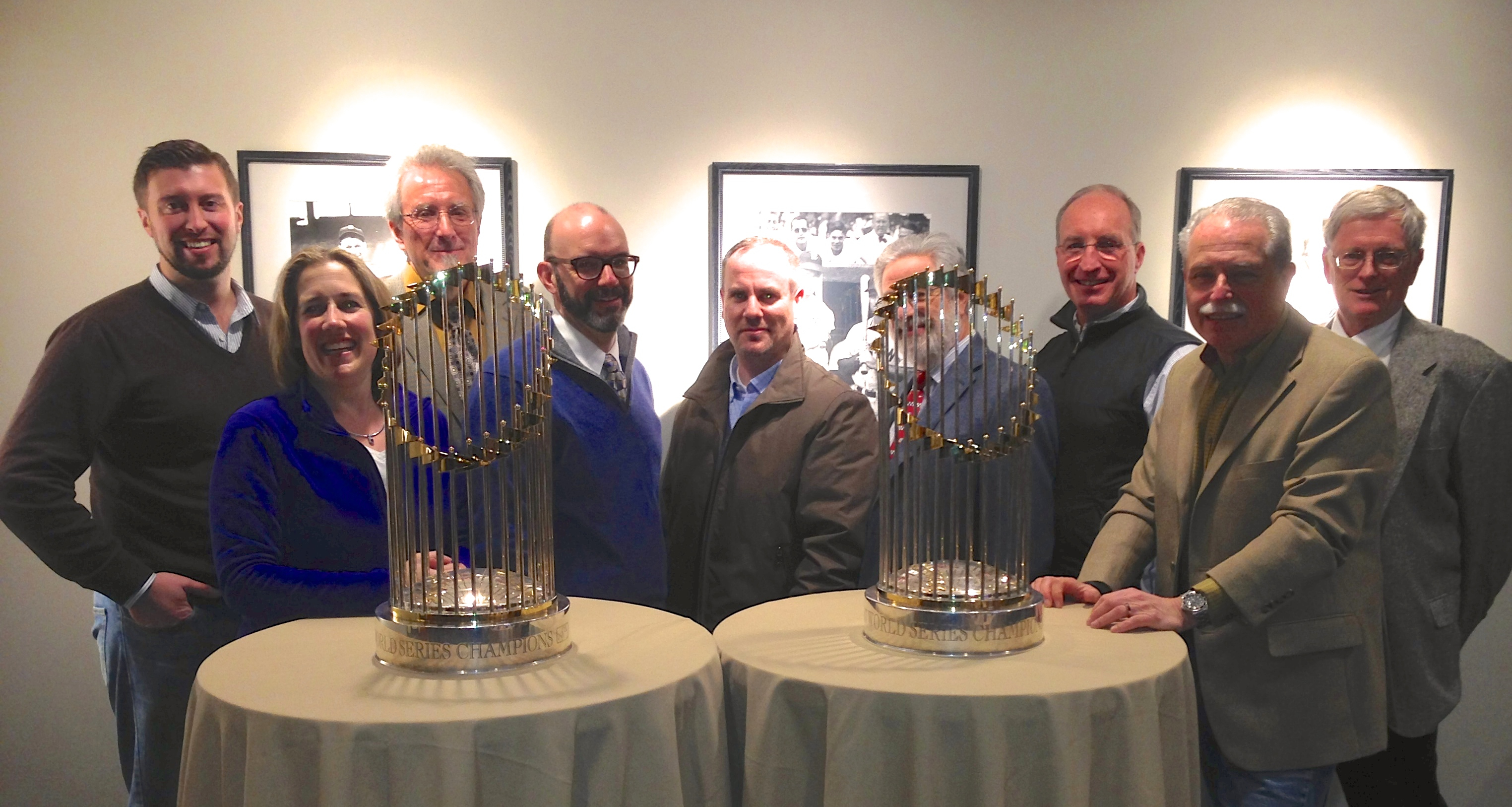Courtesy once again of the Ford Motor Company, NEMPA members gathered on Thursday evening (January 16) for the traditional Boston auto show dinner in John Henry's suite at fabled Fenway Park. Shiny table decoration No. 3 was on tour somewhere in Red Sox Nation.