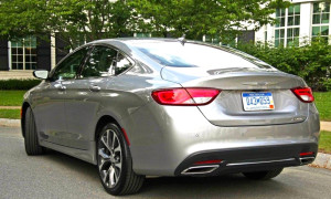 Note dual exhausts. A pair of 2015 Chrysler 200s have joined the NEMPA press fleet.