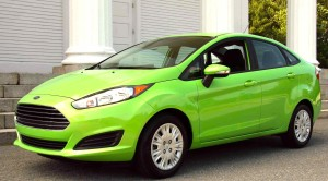 The 1.0-liter Fiesta SFE is available as a sedan as well.