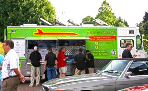 At LAAM, breakfast 'Subarittos' were furnished by Subaru and created by the locally famous Breakfast Burrito truck.