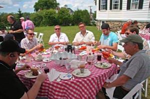 The boys' table . . .