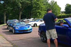With keys drawn and drivers and passengers paired up, cars began to exit the museum en route to the rest stop on I-95 in southern New Hampshire.