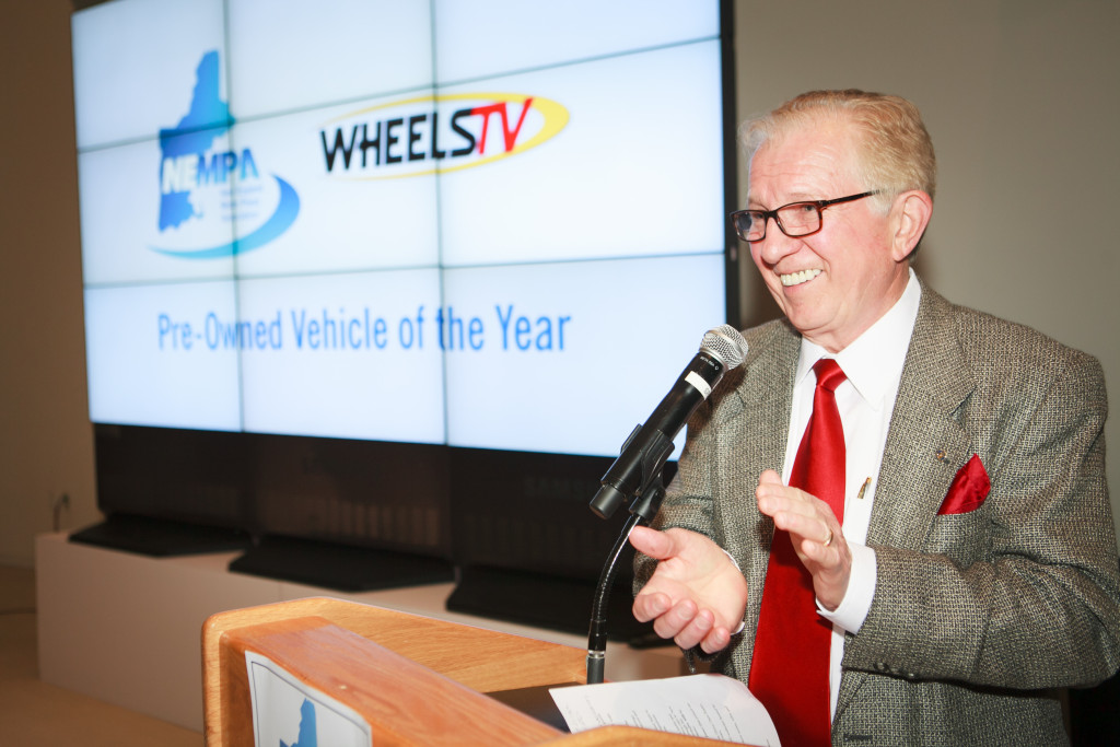WheelsTV President Jim Barisano presented the Previously Owned Vehicle of the Year Award for the 2006-12 RAV4.
